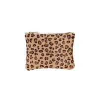 Sarah Baily Micro Clutch Leopard And Gold