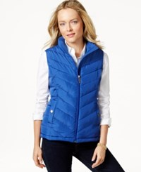 Charter Club Quilted Chevron Vest Only At Macy's Cobalt