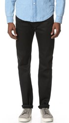 Earnest Sewn Allen Slim Straight Jeans Raw Black