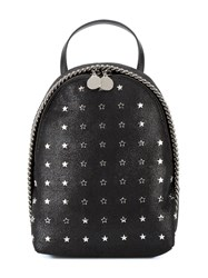 Stella Mccartney Star Embellished Mini Falabella Backpack Black