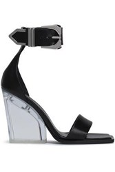 Versus By Versace Leather And Perspex Sandals Black