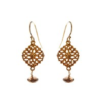 Alicia Marilyn Designs Filigree Earrings With Smokey Topaz Pink Purple