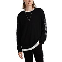 Rta Embroidered Cashmere Oversized Sweater Black