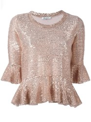 Dondup Sequin Embellished Blouse Nude Neutrals
