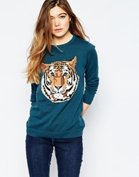 Sugarhill Boutique Tiger Jumper Blue