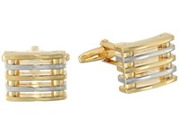 Stacy Adams Cuff Link Square With Two Tone Bars Two Tone Cuff Links Metallic