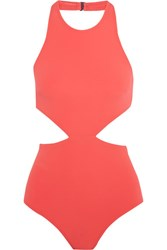 Flagpole Lynn Cutout Swimsuit Coral