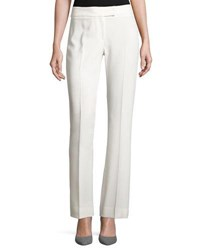 Tahari By Arthur S. Levine Straight Leg Crepe Suiting Pants Ivory