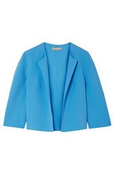 Michael Kors Collection Woman Stretch Wool Crepe Jacket Azure
