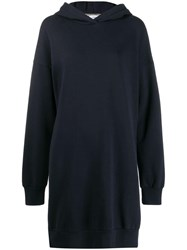 Closed Logo Hooded Sweat Dress Blue