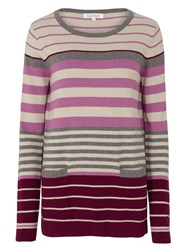 Tulchan Placement Stripe Jumper Purple