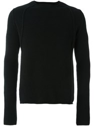 Isabel Benenato Ribbed Detail Sweater Black
