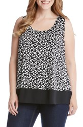 Karen Kane Plus Size Women's Sheer Hem Tank