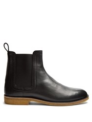 Bottega Veneta Leather Chelsea Boots Black