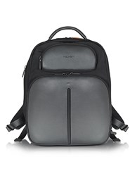 Giorgio Fedon 1919 Web File 2 Black Leather And Nylon Men's Backpack