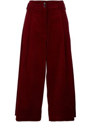 Vanessa Bruno Corduroy Cropped Trousers Red
