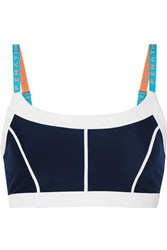 P.E Nation Quater Force Paneled Stretch Sports Bra Navy