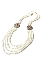 Amrita Singh Gayatri 10Mm Glass Pearl Necklace Red