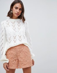 B.Young Cable Knit Jumper Off White