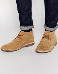 Red Tape Leather Suede Dessert Boots Beige