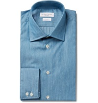 Richard James Blue Embroidered Cotton Shirt