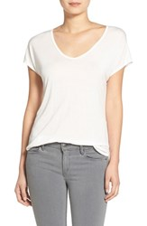 Trouve Women's Trouve Relaxed Fit Shirttail Tee White Snow