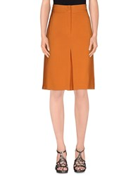Gerard Darel Skirts Knee Length Skirts Women Orange