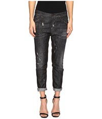 Dsquared Cool Girl Denim In Black Wash Black Denim Wash Women's Jeans Blue
