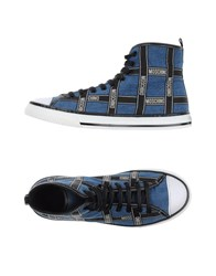 Moschino Footwear High Tops And Trainers Men Pastel Blue