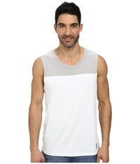 Dkny 50 50 Solid Jersey Pieced Muscle Tank Top White Men's Sleeveless