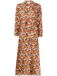 Roseanna Floral Print Silk Dress 60