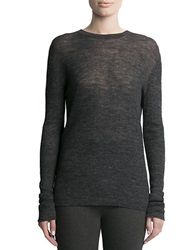Pink Tartan Superfine Merino Wool Sweater Grey