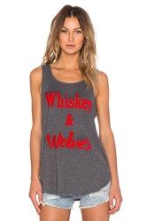Minkpink Wiskey And Wolves Tank Gray