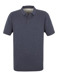 Racing Green Cooper Knitted Short Sleeve Polo Denim
