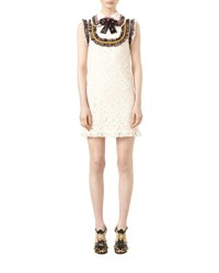 Gucci Cluny Lace Dress With Embroidery Bone