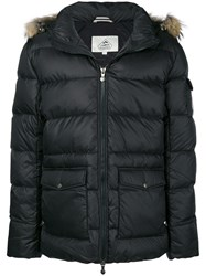 Pyrenex Hooded Parka Coat Black