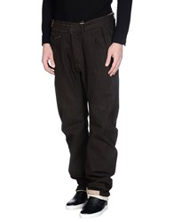 Andrew Mackenzie Trousers Casual Trousers Men Dark Brown