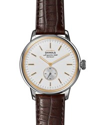 Shinola 42Mm Bedrock Chronograph Watch White