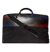 Berluti Cube Shell And Leather Holdall Black