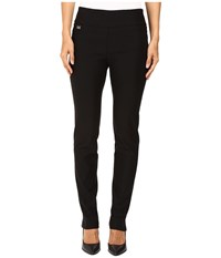 Lisette L Montreal Solid Magical Lycra Slim Pants Black Women's Casual Pants