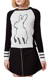 Women's Topshop Rabbit Crewneck Sweater