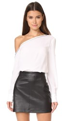 Yigal Azrouel One Shoulder Top White