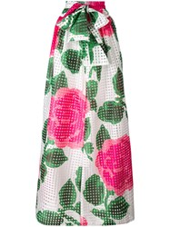 Tory Burch Floral Maxi Skirt Women Cotton Polyester 4 Green