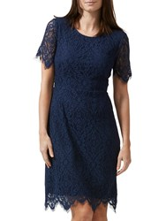 Sugarhill Boutique Dawn A Line Lace Dress Navy
