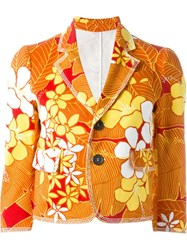 Dsquared2 Floral Print Denim Jacket Yellow And Orange