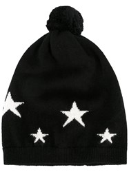 Chinti And Parker Star Intarsia Hat Women Cashmere One Size Black