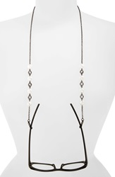 Spring Street Pearly Bead And Crystal Eyeglass Chain Jet