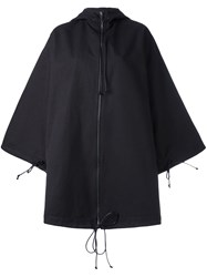 Toogood Oversized Hooded Coat Black