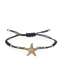 Pippo Perez Pull Cord Bracelet With Diamond Starfish In 18K Yellow Gold