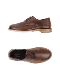 Alexander Hotto Lace Up Shoes Cocoa
